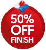 Dishwashers Finish 50% Off
