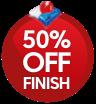 Dishwashers Finish 50% Off