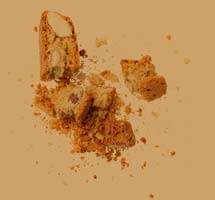Biscotti and crumbs