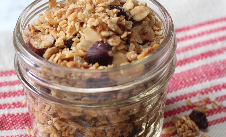 Microwavable granola