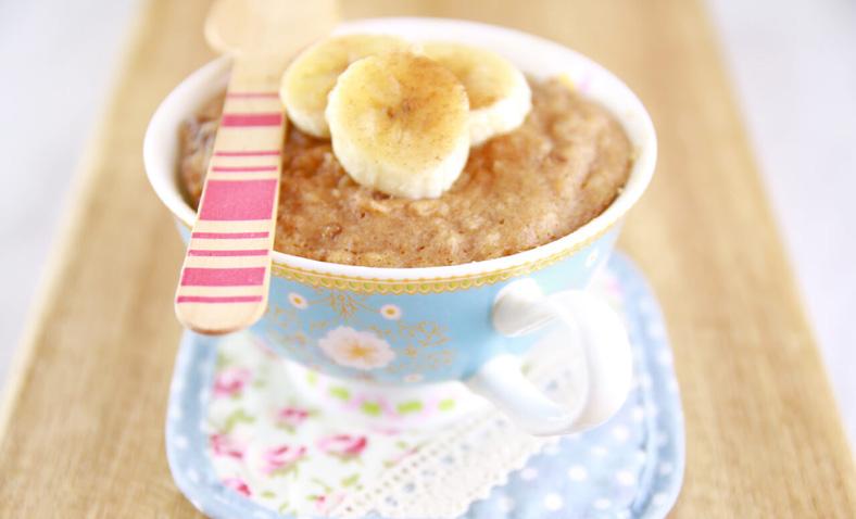Peanut Butter & Banana Mug Cake