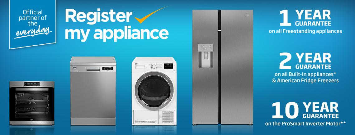 Beko Appliance & Guarantee Registration | Beko