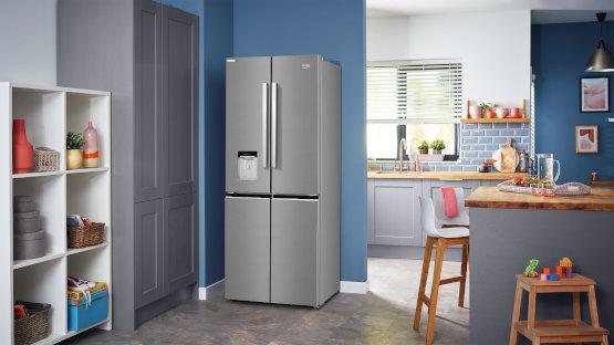 stainless-steel American Fridge Freezers