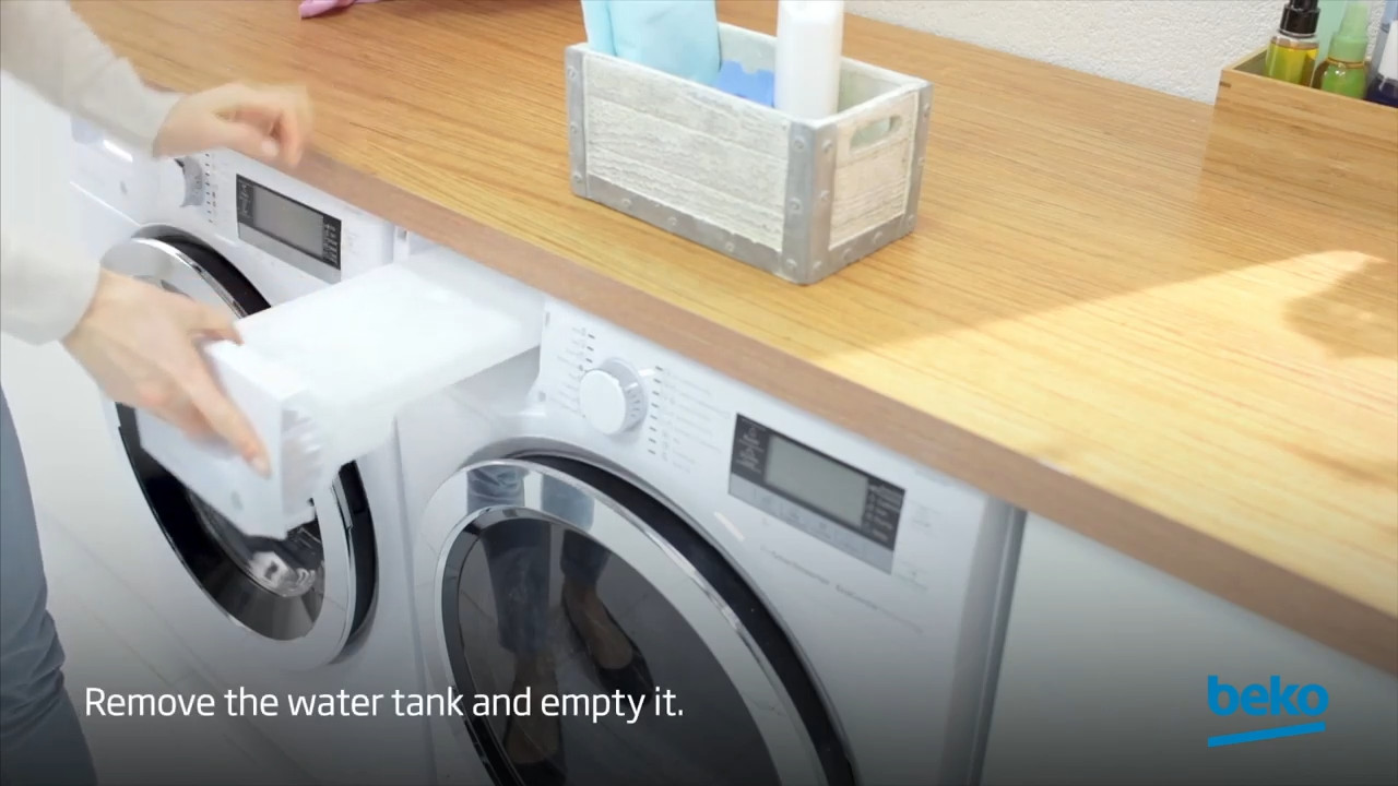 How to empty the water tank of your Beko tumble dryer