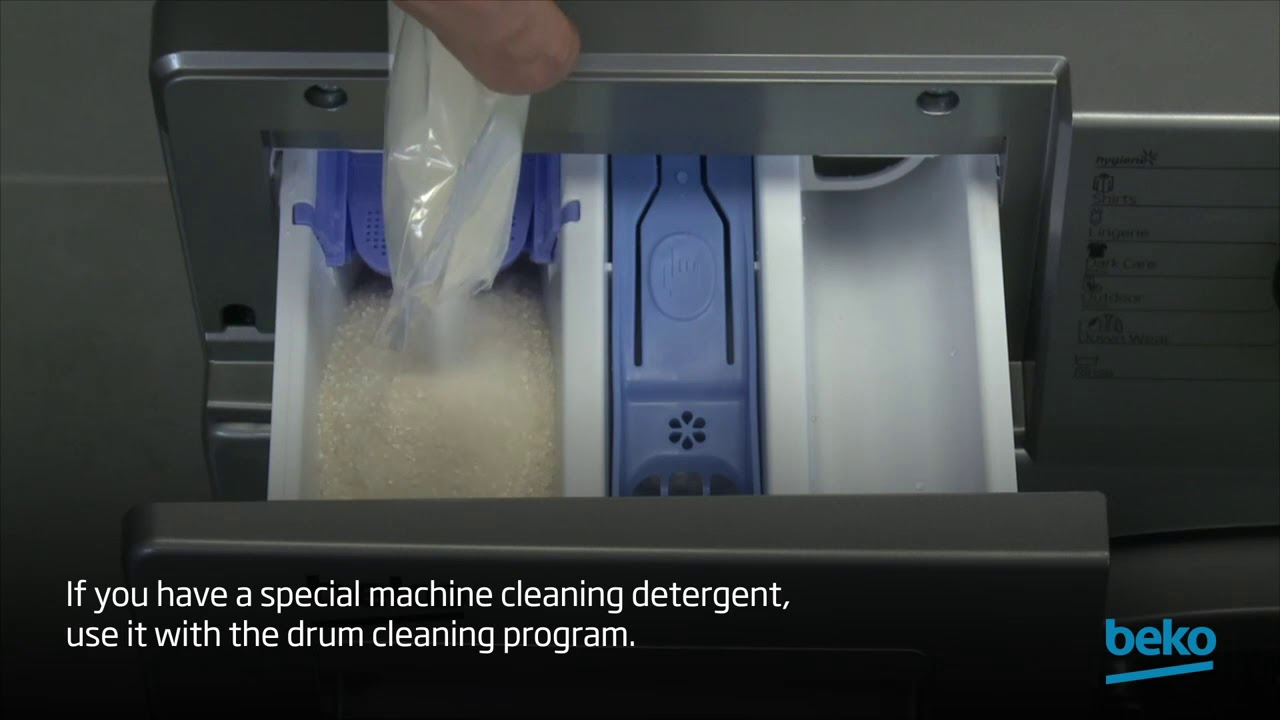 How to clean the drum of your washing machine