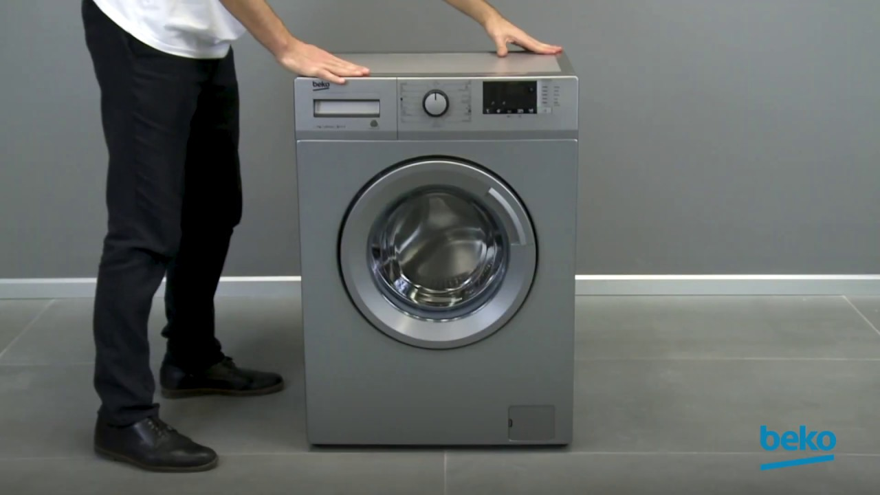 How to level your washing machine