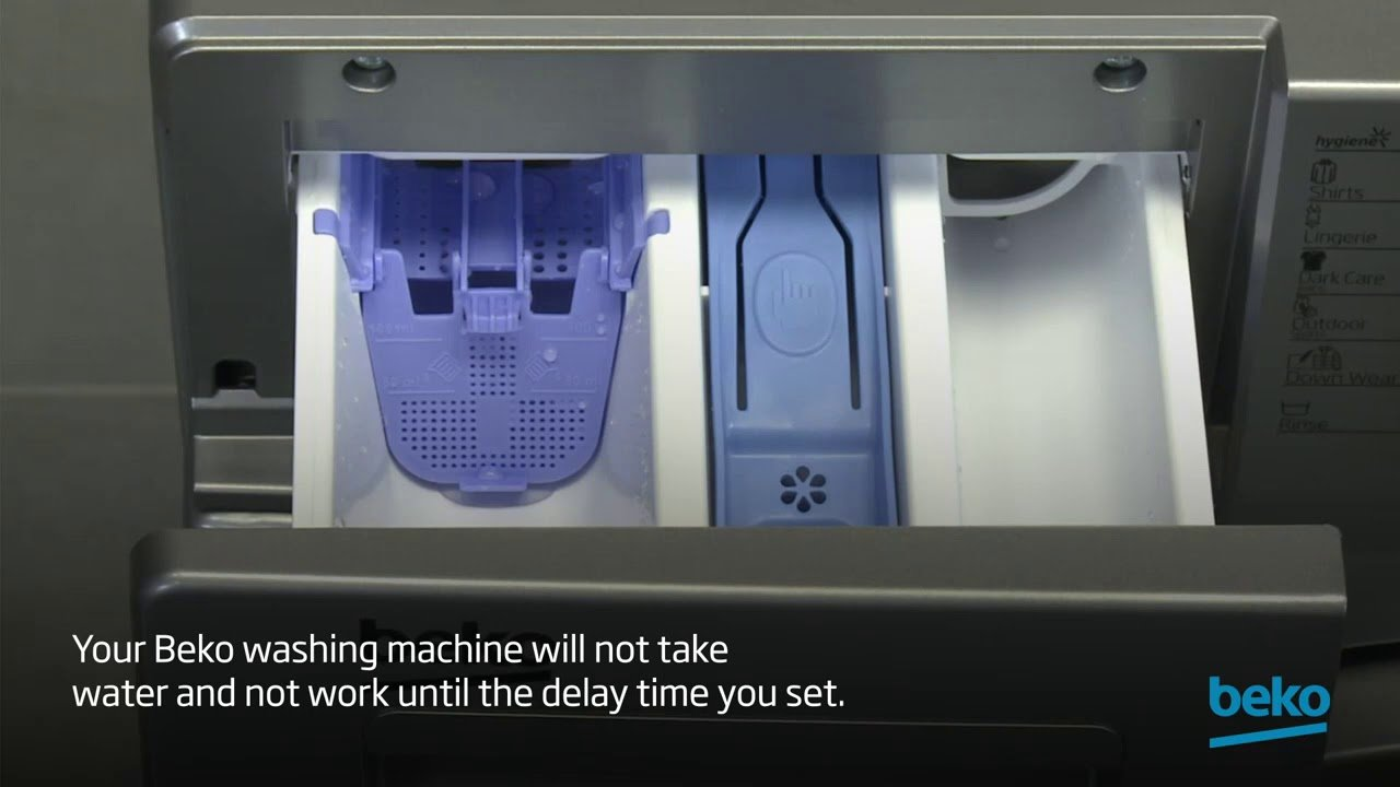 How to use the delay function on your washing machine