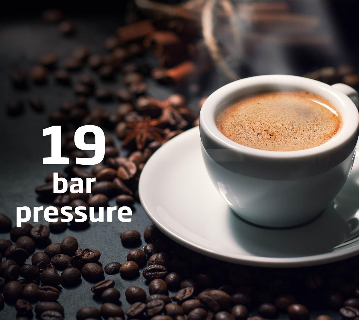 19 bar pressure