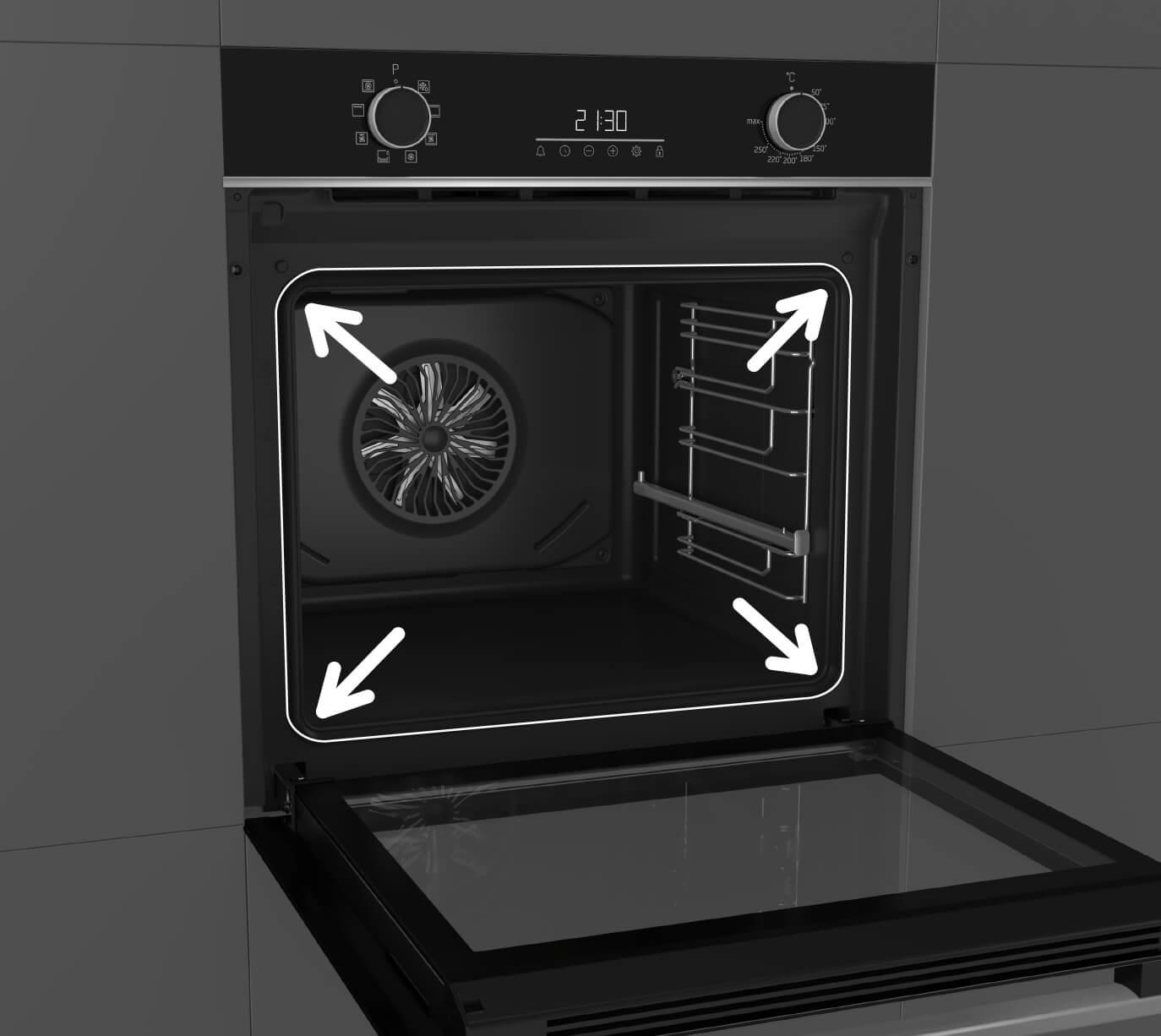 Beko BBIF22300B 60cm single fan oven
