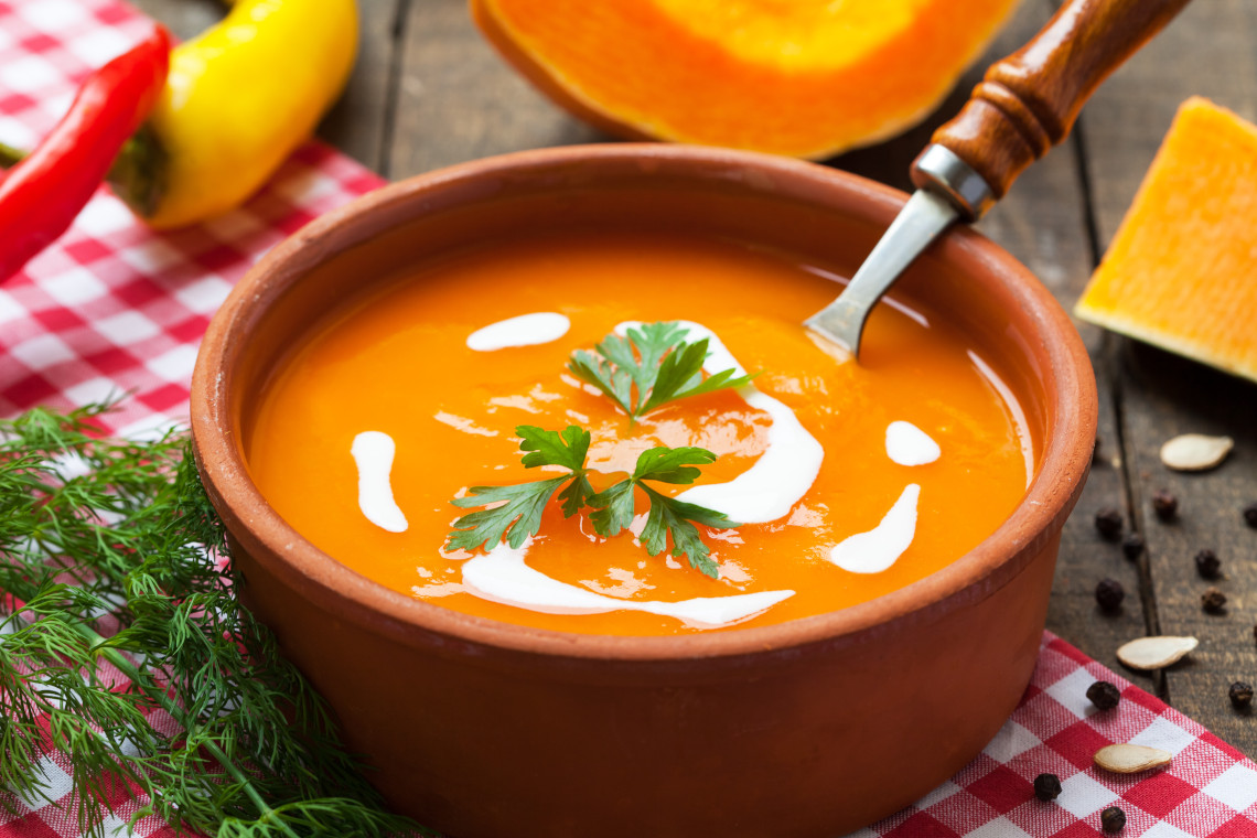 Butternut sweet potato and chilli soup