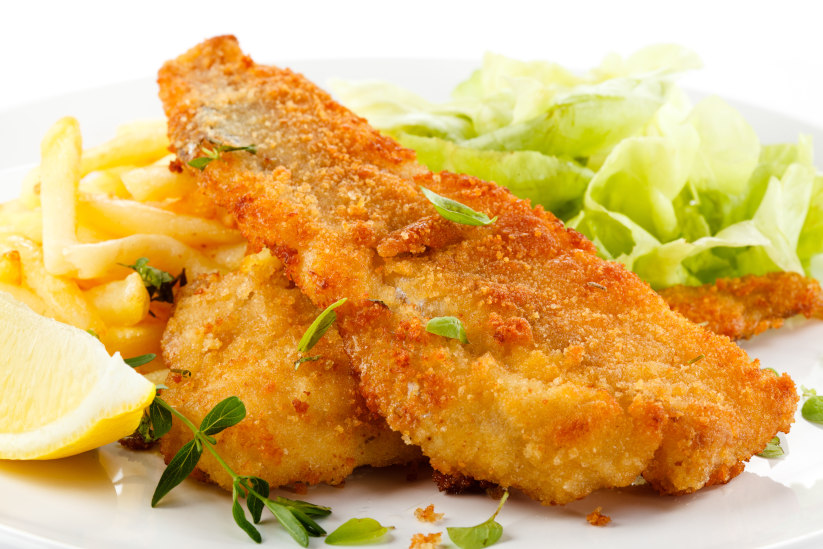 Oven-baked Healthier Fish & Chips