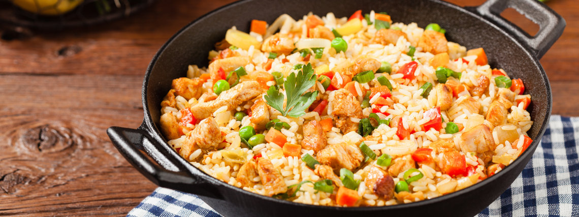 Chicken and vegetable bowls