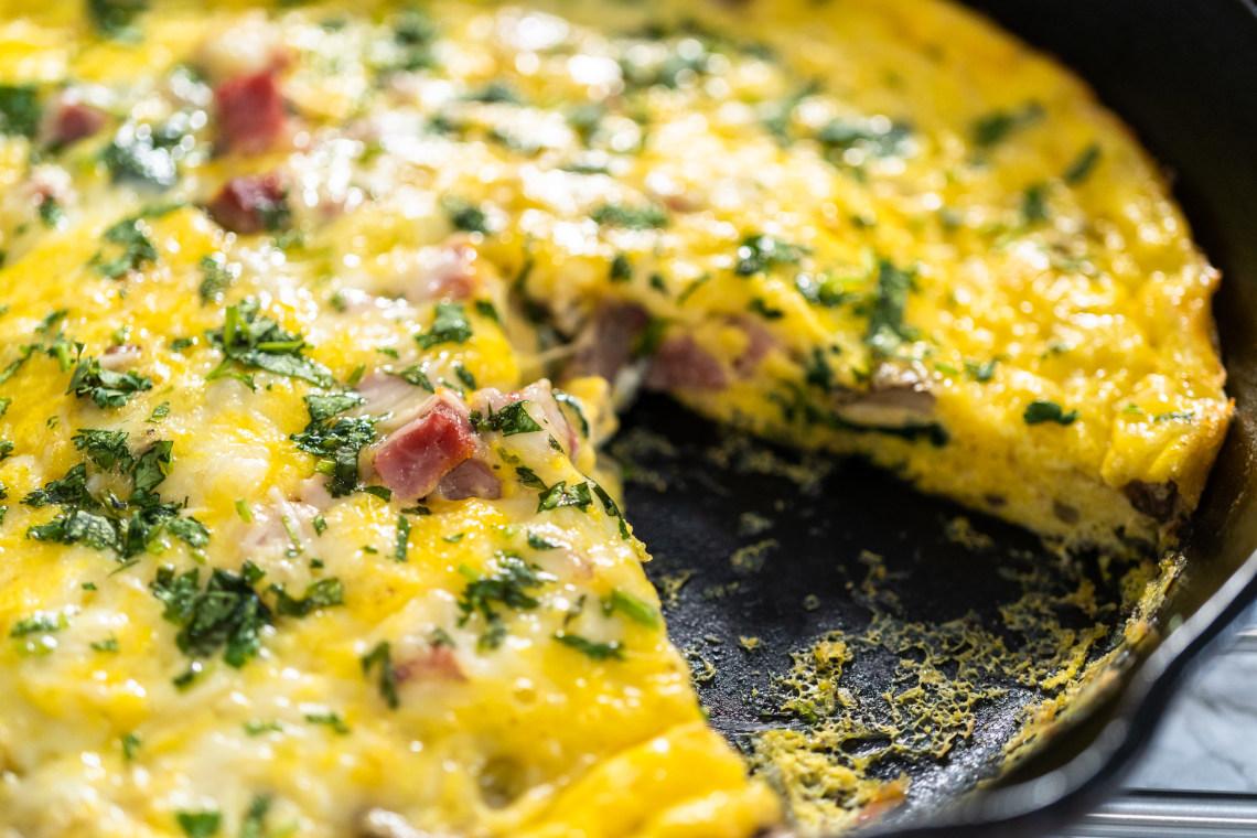 Easy cheesy frittata