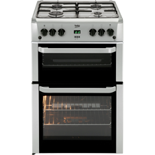 60cm double oven dual fuel cooker BDVF696
