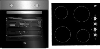 Built-In Fan Oven & Ceramic Hob Package BSF210S