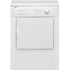 White 6kg Vented Tumble Dryer DRVT61