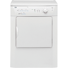 White 7kg Vented Tumble Dryer DRVT71