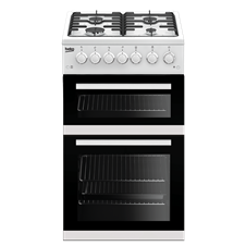60cm Double Oven Gas Cooker EDVG505W