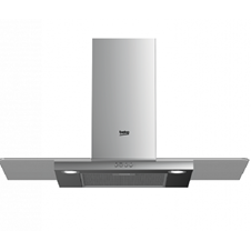 90cm Stainless Steel and Glass Chimney Hood