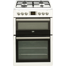 White Dual Fuel Cooker BDVF675NT