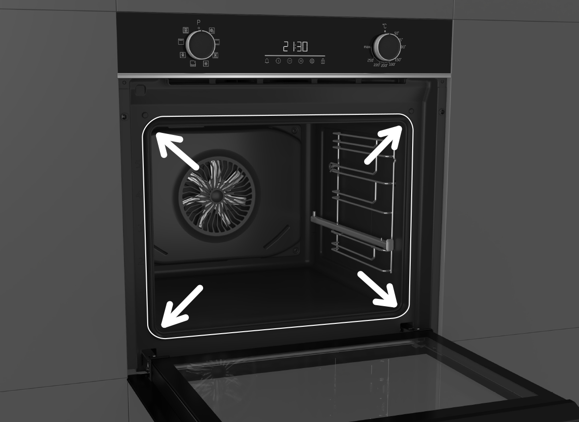 Large 72L Oven Capacity