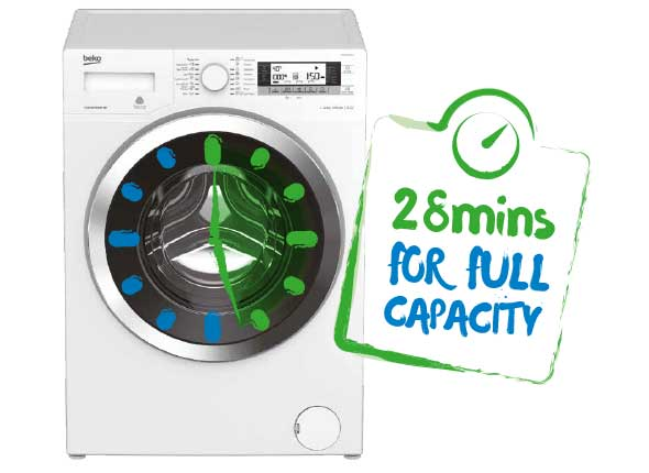 Fast wash for full load - 11kg in 28 min
