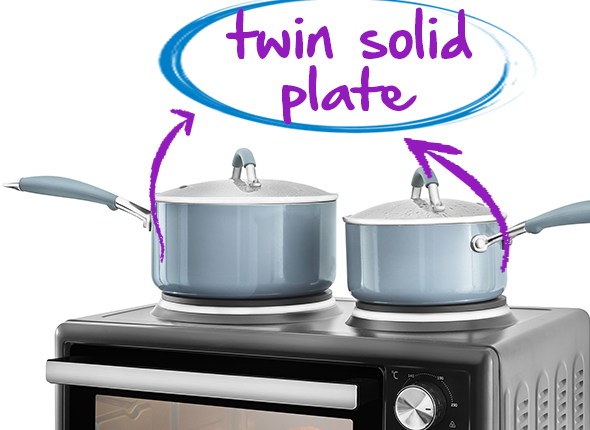 Twin Solid Plate Hob