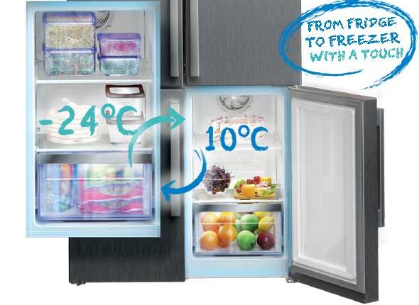Beko Cff6873gx Frost Free Fridge Freezer In Stainless Steel