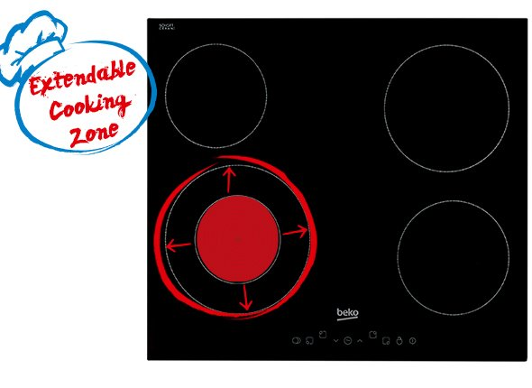 Extendable Cooking Zone