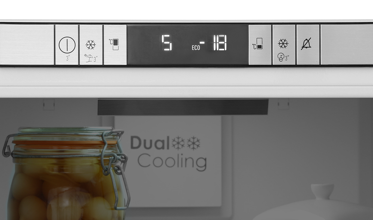 Freestanding Integrated Combi Fridge Freezer Pbc273f Built In Oven Wiring Instructions Electronic Led Display