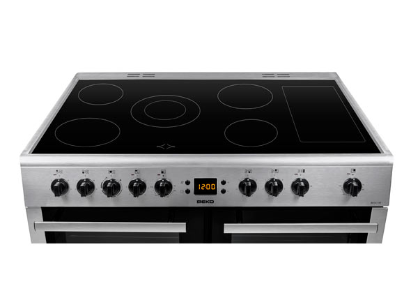5 zone hob with warming zone