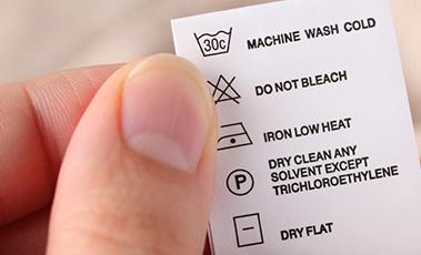 Washing symbol label
