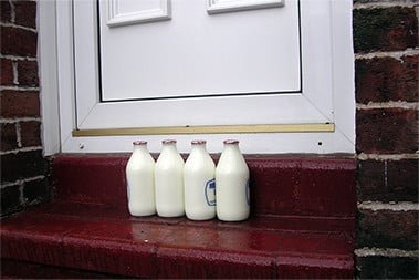 milk on the doorstep