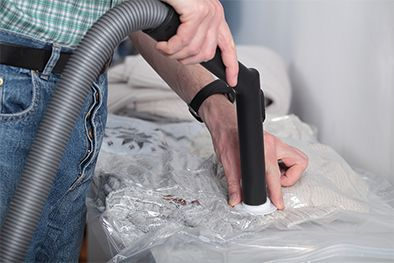removing the air from a vac bag