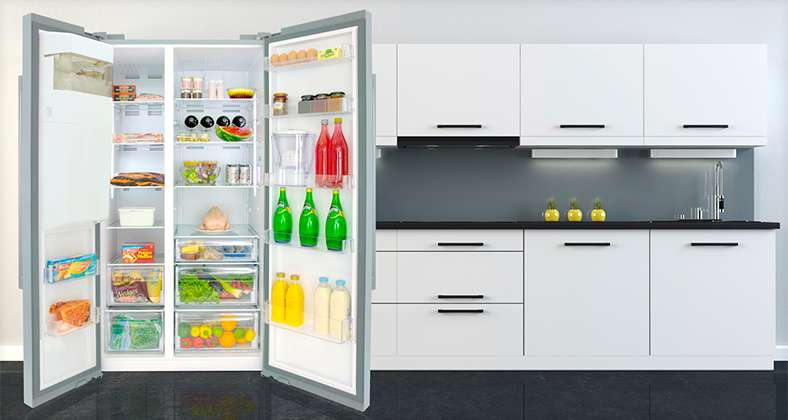 Stylish American Style Fridge Freezer Interior