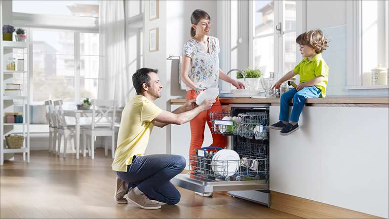 A family dishwasher