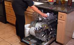 Stacking order in a dishwasher