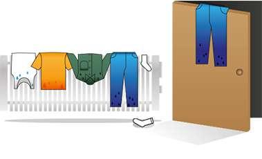Heat pump tumble dryers avoid drying over radiators