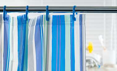 Plastic shower curtains