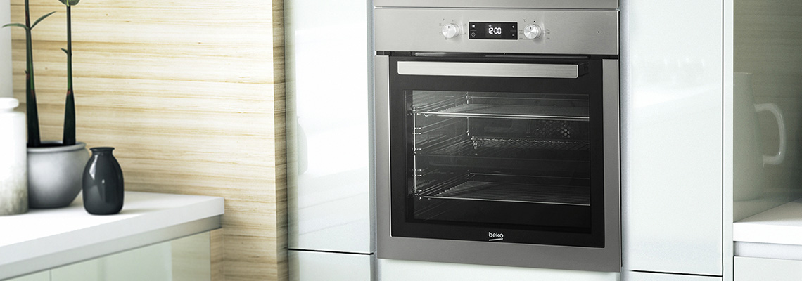 Close up picture of Beko oven