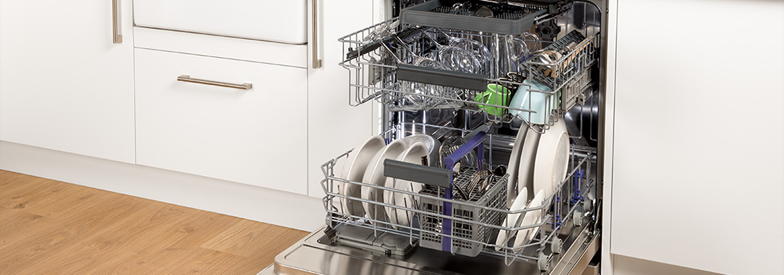 Close up picture of Beko dishwasher