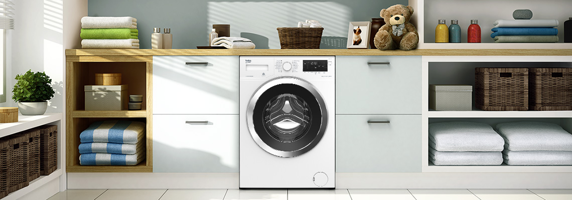 Close up picture of Beko washing machine
