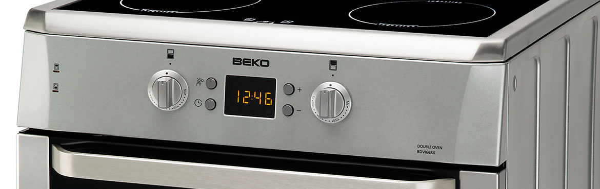 Close up picture of Beko cooker