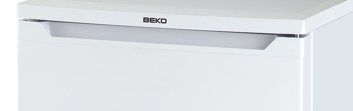 Close up picture of Beko freezer