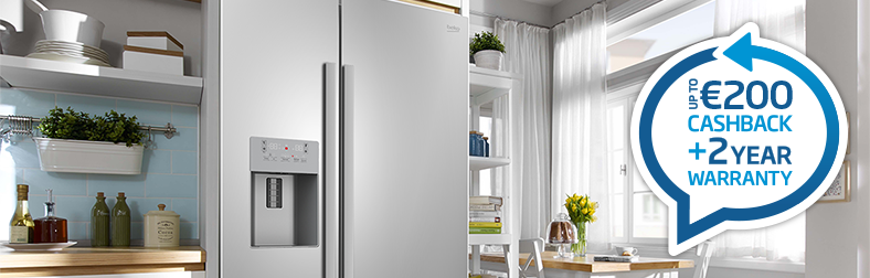 View all American Style Fridge Freezers with up to €200 Cashback