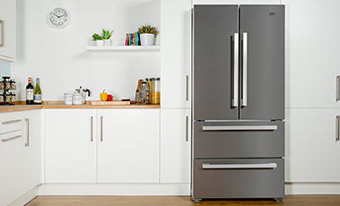 Beko stainless steel fridge freezer