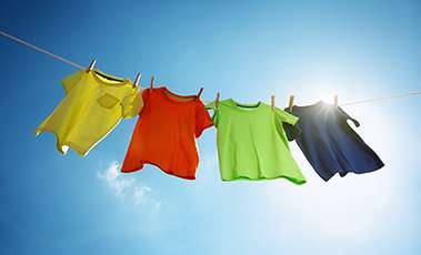 Colourful clothes on the line