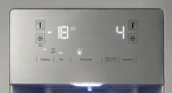 External LED Display helps easily adjust the temperature