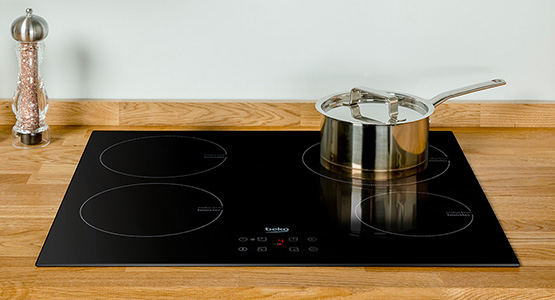 ceramic, glass, electric and gas hobs