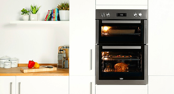 Efficient use of space with a built in oven